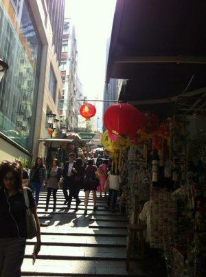 Hong Kong Streets Near Hollywood